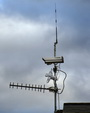 Phenocam and Antenna on top of the pierce laboratory at the Hubbard Brook Experimental Forest, NH. USDA Forest Service
