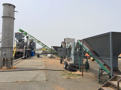 Photo of  Near-woods integrated system for processing post-harvest residues into bioenergy products. Richard Bergman, U.S. Department of Agriculture Forest Service.
