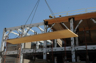 Researchers are developing seismic performance factors for cross laminated timber buildings in the United States. U.S. Department of Agriculture Forest Service.
