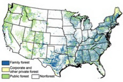 Photo of Forest Ownership map. U.S. Department of Agriculture Forest Service.