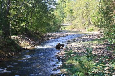 Photo of Stream restoration near the Seneca Rocks Discovery Center, Monongahela National Forest. Kristin Floress, U.S. Department of Agriculture Forest Service.