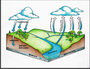 Photo of A simple depiction of the hydrologic cycle Robin L. Quinlivan. U.S. Department of Agriculture Forest Service.