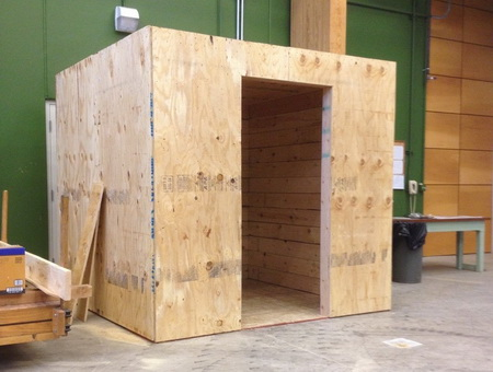 Assembled Commodity Wood Tornado Safe Room.