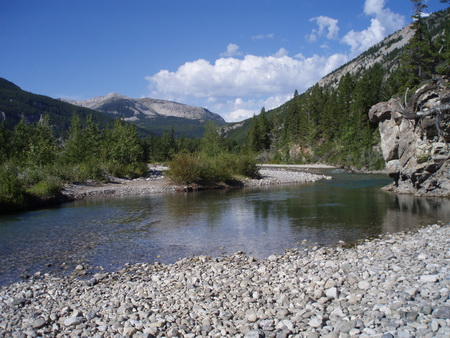 Photo of Badger Creek in Lewis and Clark National Forest, Mont. Streams in the northern Rocky Mountains are already being affected by increased air temperatures and declining snowpacks.