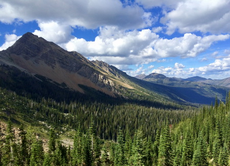Photo of Looking out over the southwestern portion of the expansive Bob Marshall Wilderness Area in northwestern Montana.