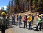 Photo of A public field tour in the Deschutes National Forest, Oregon. Resource managers, scientists, and the public discuss management strategies for fire-prone forests such as the Deschutes National Forest.