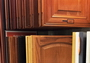 Photo of Customized options for kitchen cabinet doors including species, style, and finish