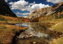 Photo of Fall colors and reflection on a pond in Lamoille Canyon, Ruby Mountains District, Humboldt-Toiyabe National Forest, Nevada