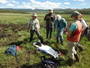 Photo of Region 4 Science Partner Program groundwater dependent ecosystems team members collect data.