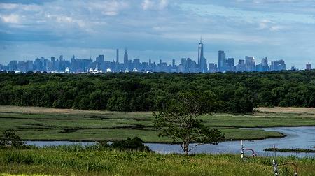Photo of New York City skyline.