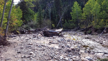 The 2013 Northern Colorado flood caused major damage on the Arapaho-Roosevelt National Forest.