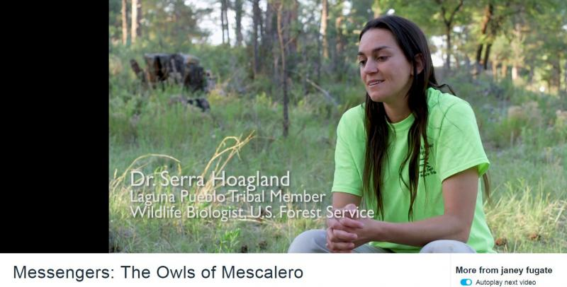 "Dr. Serra Hoagland speaks about her work in the short film, ""Messengers: Owls of Mescalero"" by filmmaker Janey Fugate."