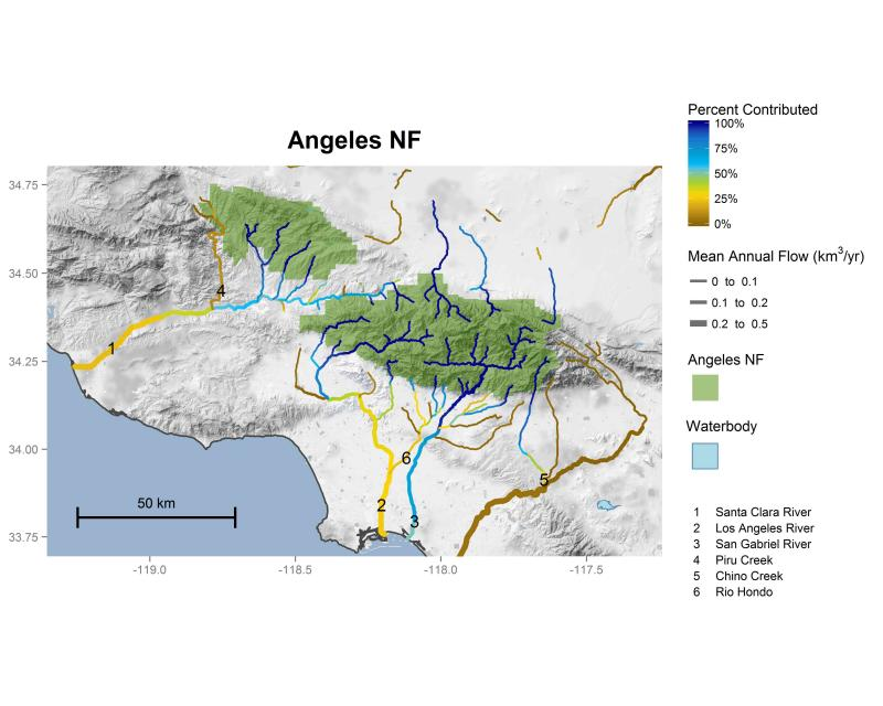 Angeles National Forest streamflow contributions