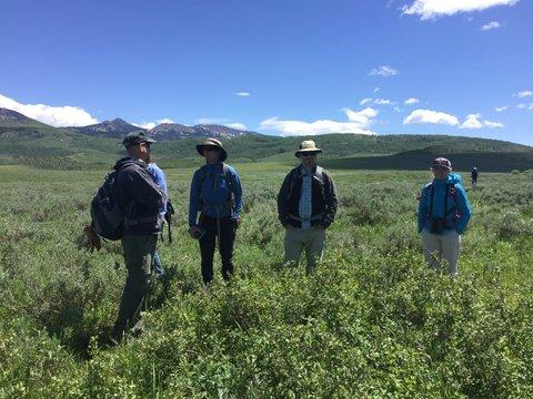 Collaborators on the sagebrush restoration project at California Park, Medicine Bow-Routt National Forest