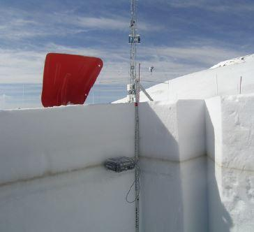Snow monitoring pit