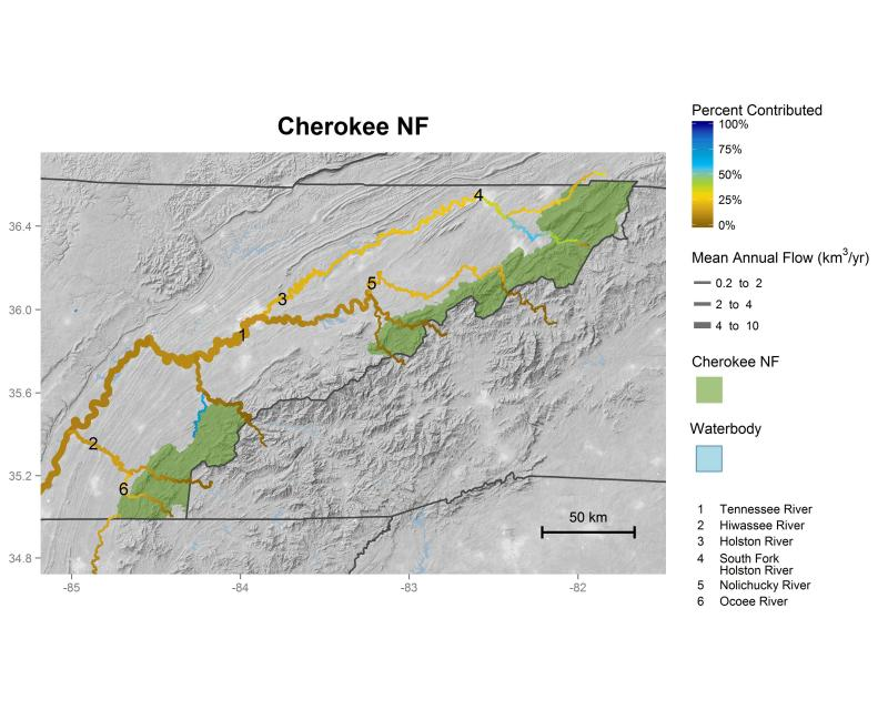 Cherokee National Forest streamflow contributions