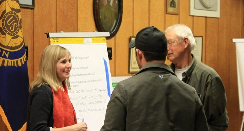 Community forest planning workshop on the Salmon-Challis National Forest