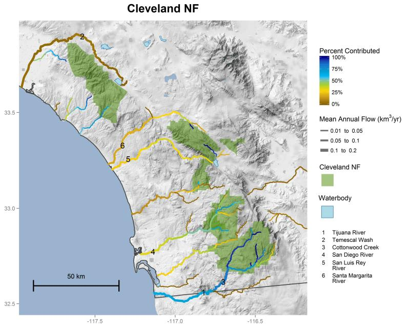 Cleveland National Forest streamflow contributions