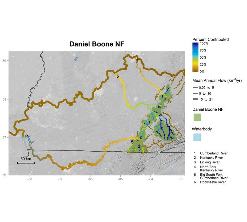 Daniel Boone National Forest streamflow contributions
