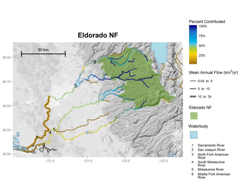 Eldorado National Forest streamflow contributions
