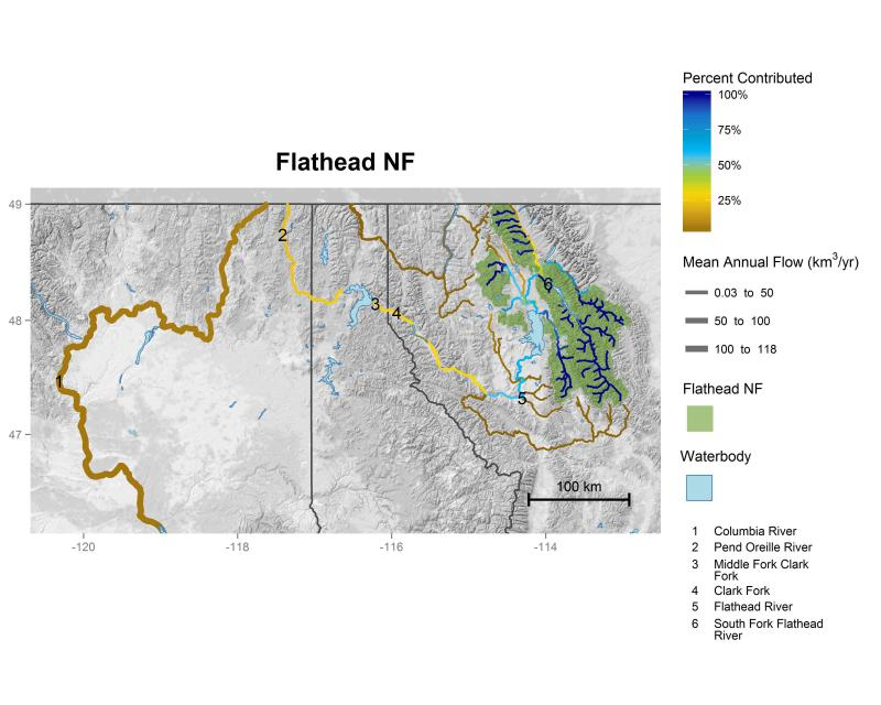 Flathead National Forest streamflow contributions