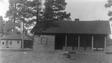 Photo of director's residence and office at Fort Valley Station, July 1911.