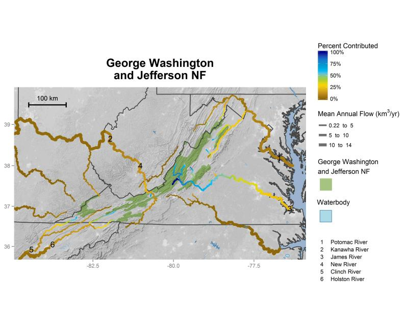 George Washington and Jefferson National Forest streamflow contributions