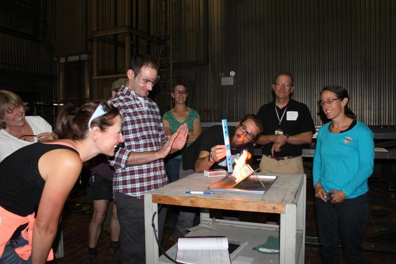 Teachers participating in the 2015 Fireworks Class at the Fire Sciences Lab in Missoula, Mont.