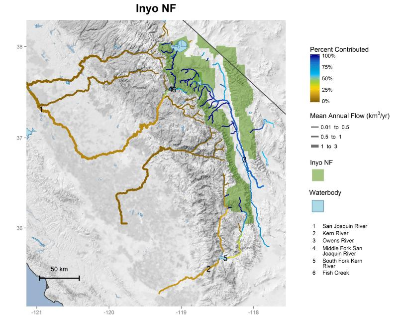 Inyo National Forest streamflow contributions
