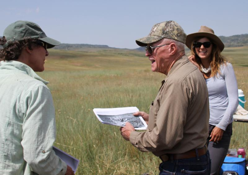 RMRS researchers meet with local ranchers to discuss the oral history of California Park