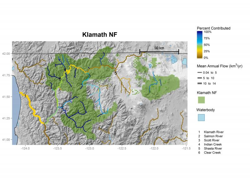 Klamath National Forest streamflow contributions