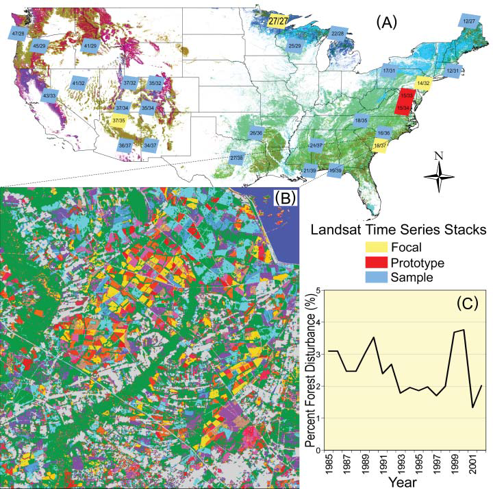 North American Forest Dynamics (NAFD) Map