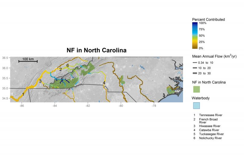 Streamflow contributions of national forests in North Carolina