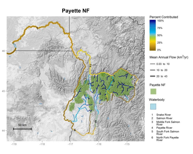 Payette National Forest streamflow contributions