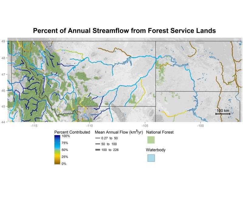 National forest contributions to streamflow in the Northern Region.