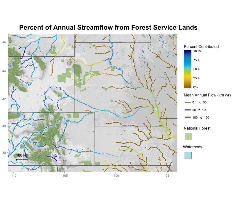 National forest contributions to streamflow in the Rocky Mountain Region