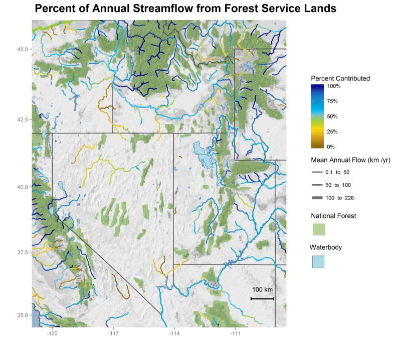 National forest contributions to streamflow in the Intermountain Region