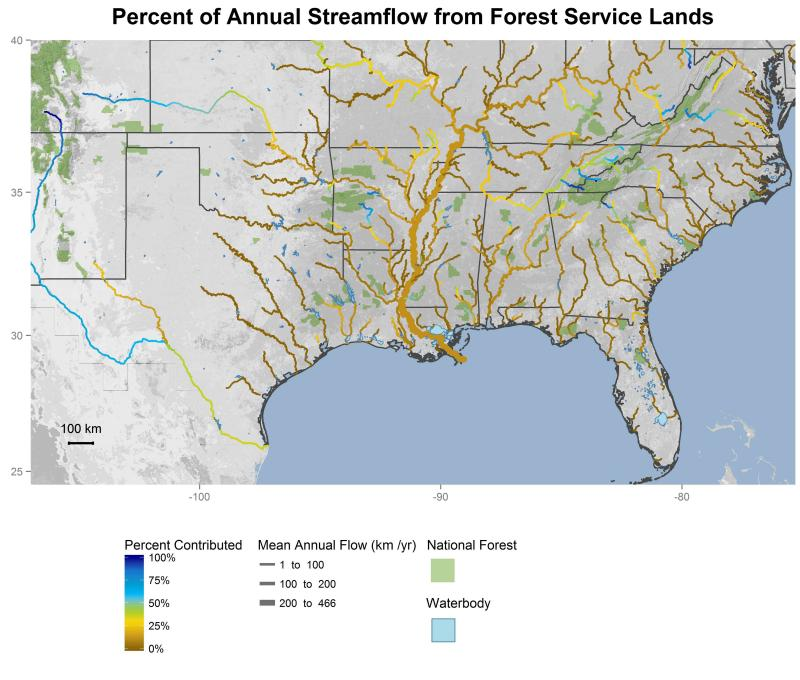 National forest contributions to streamflow in the Southern Region