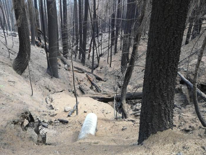 Post-fire erosion after the Route Complex fire
