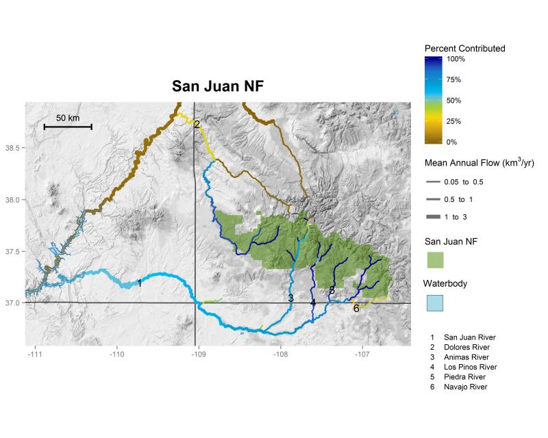 San Juan National Forest streamflow contributions