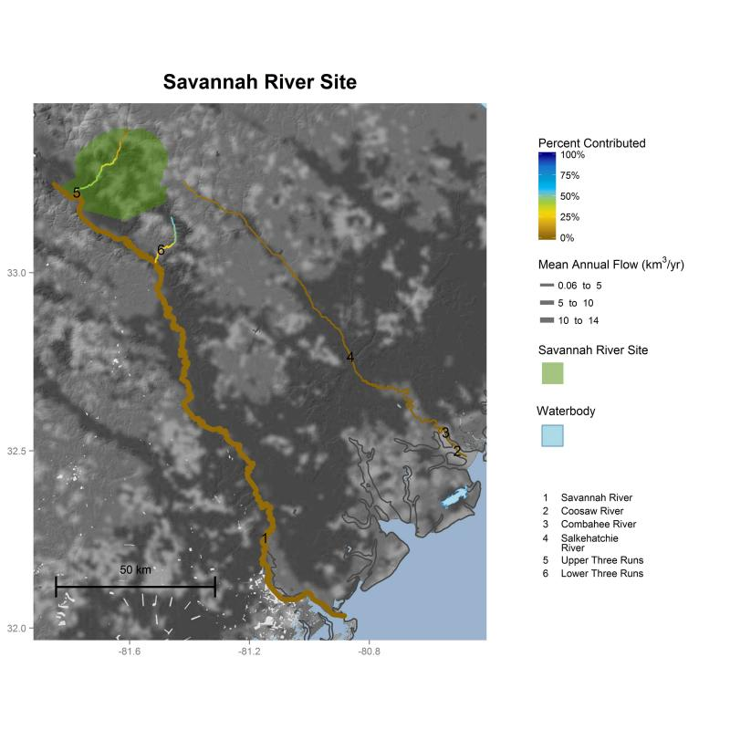 Savannah River Site streamflow contributions