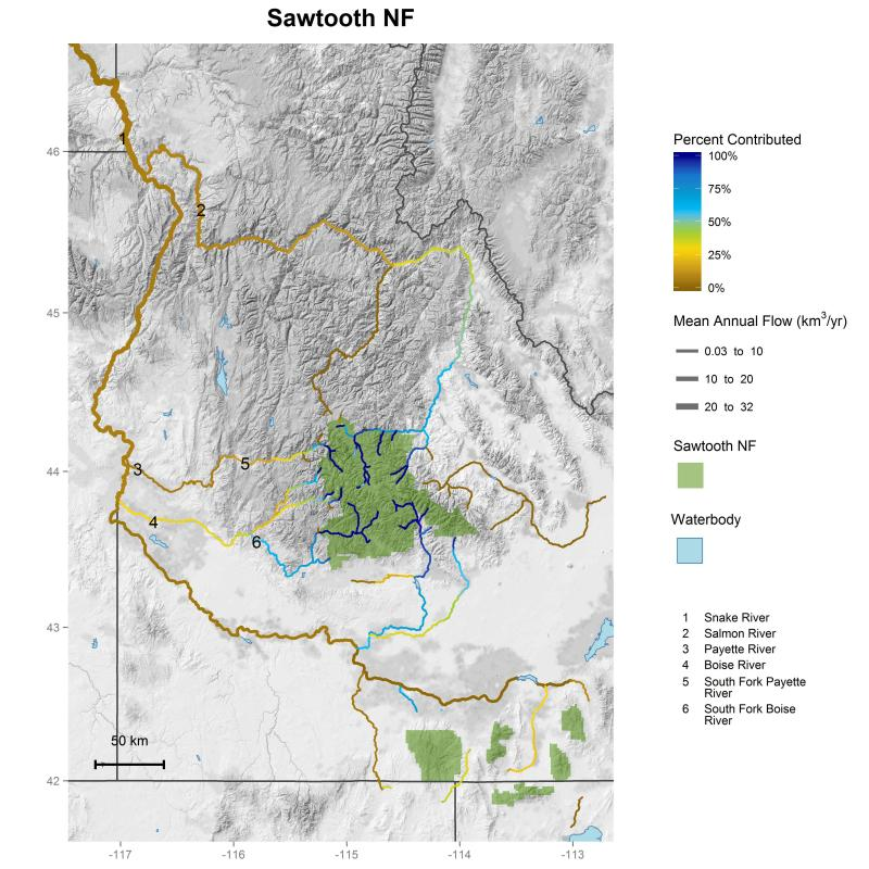 Sawtooth National Forest streamflow contributions