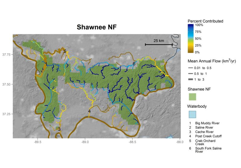 Shawnee National Forest streamflow contributions