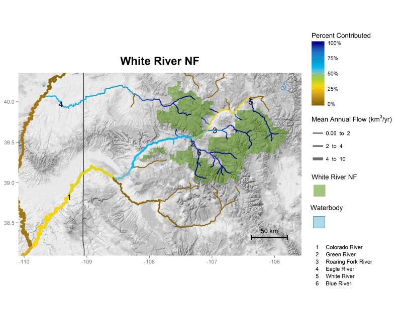 White River National Forest streamflow contributions