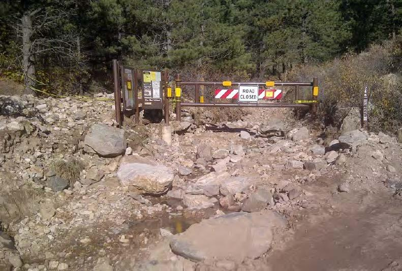 The flood caused severe damage to bridges and roads on the Arapaho and Roosevelt National Forests. (Image credit: U.S Forest Service, Arapaho and Roosevelt National Forests)