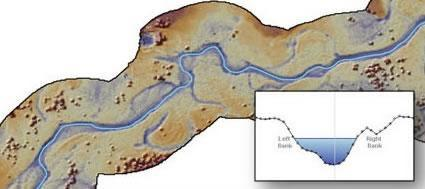 River bathymetry map