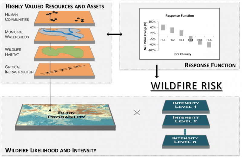 Wildfire Risk Assessment involves a step-by-step process which utilizes software tools, research, and on the ground observation.