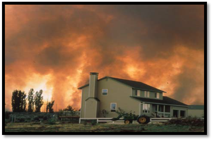 Fires originating on National Forests expose communities to wildfire in the Western US.
