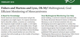 An image of the text from February 2019 Science You Can Use in 5 min publication about mesocarnivores and GTR 388