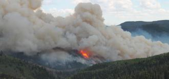 Manning creek stand replacement fire plume